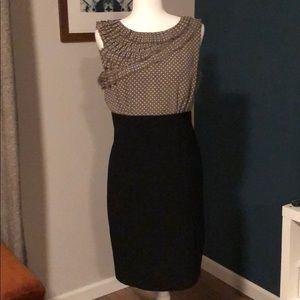 Anne Klein ruffle neck dress